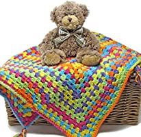 Easy Peasy Baby Blanket Crochet Kit – all-inclusive gift, ideal for first project for confident beginner crocheters
