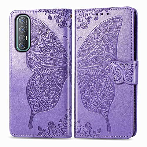 TenDll Fundas Samsung Galaxy Z Fold 3 5G,Funda Flip [Cierre Magnético] [Stand Función] [Ranura de Tarjeta] Slim Flip Fundas Case para Samsung Galaxy Z Fold 3 5G -Púrpura