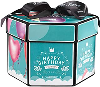 Swyss Surprise Creative Explosion Gift Box, DIY Handmade Photo Album Scrapbooking Gift Box for Birthday Party, Valentine's Day, Mother's Day & Wedding (A)