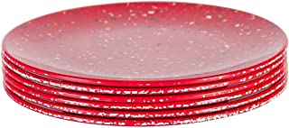 Zak Designs 0078-0848-ISET Confetti Salad Plates, Set, Red SP