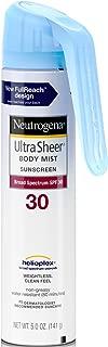 Neutrogena Ultra Sheer Spf#30 Body Mist Full Reach Spray 5 Ounce (148ml) (3 Pack)