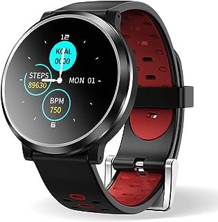 HopoFit Smartwatch Reloj Inteligente, HF04 Impermeable IP67 Podómetro Pulsómetros con Monitor de Sueño, Caloría, Notificac...