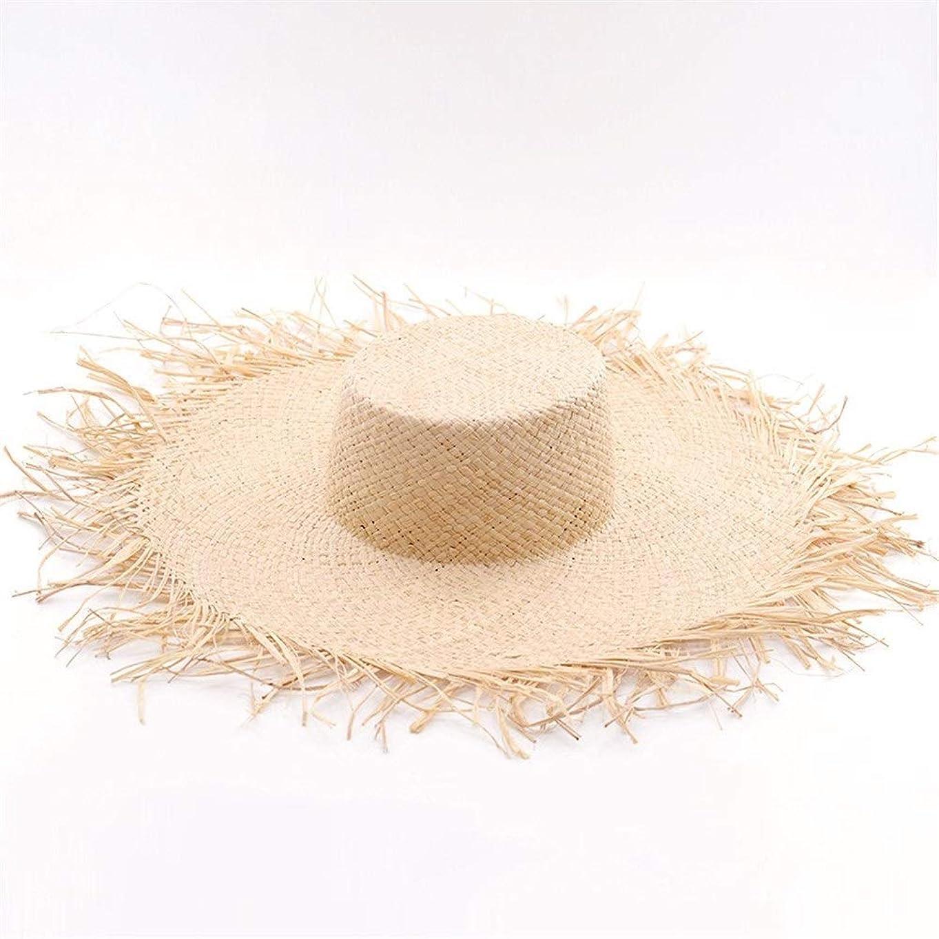 ラフィットビッグハットに沿って野生の毛深い帽子とラフィットビッグハットカジュアルハット潮の帽子