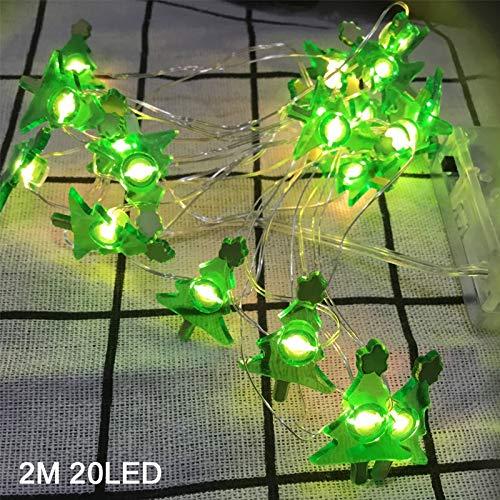 lpf Weihnachtsdekoration Schneemann LED Girlande String Lichter Schneeflocke String Fairy Lights Hängende Ornamente for Navidad Natal (Emitting Color : 2M Christmas Tree)
