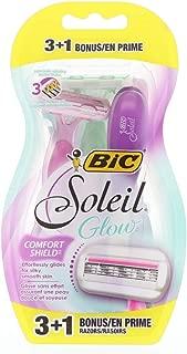 BiC Soleil Glow Women's Razors, 3 Count (Pack of 2)