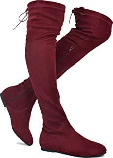 adc37140bb2 Premier Standard - Women s Fashion Comfy Vegan Suede Side Zipper Over Knee  High Boots