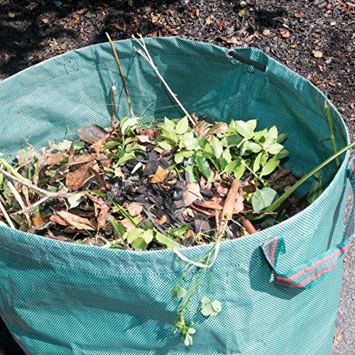 Mixtitude Paquet de 2 sacs de déchets de jardin durables en polypropylène d'une contenance de 72 gallons pour usages multiples - Dimension 30x36 \