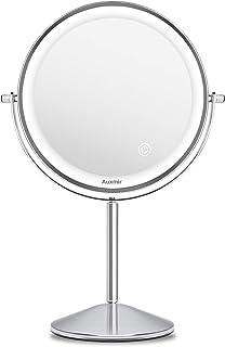 Zosam 5X Miroir de Maquillage grossissant r/églable col de Cygne Flexible LED Miroir de vanit/é de Salle de Bains avec Ventouse /à Colle pivotant /à 360 degr/és Parfait pour Montage Mural