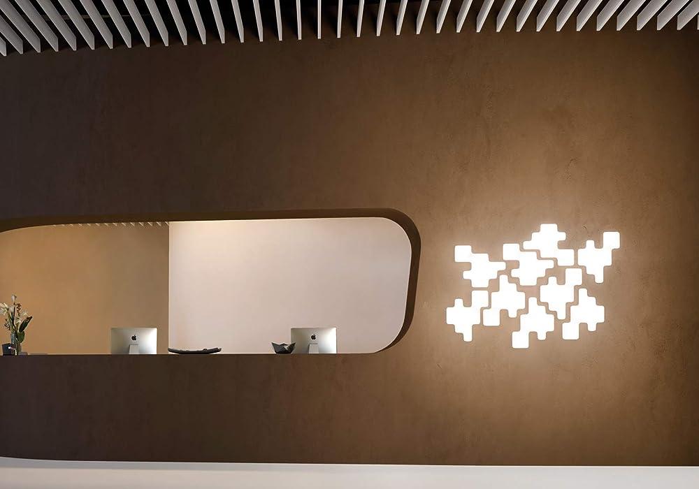 Lampada da parete e da soffitto, kundalini pixel ,diffusore in polietilene stampato 044128BIEU