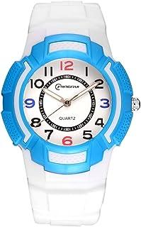 Niño Relojes Digitales Estudiante Movimiento Watch Luminoso Impermeable A Prueba De Humedad Relojes del Cuarzo Goma Correa...
