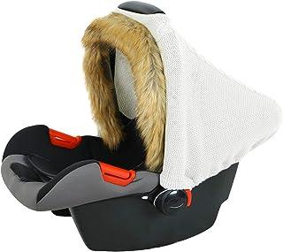 Borlai Baby Baby Autositzbezug Warme Stillbezüge Gestrickt Atmungsaktiv Neugeborenen Autositz Baldachin Geschenkset