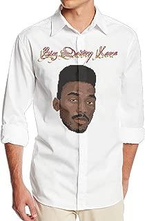 Big Daddy Kane Aint No Half Steppin Men's Casual Long Sleeve Sateen Dress Shirt