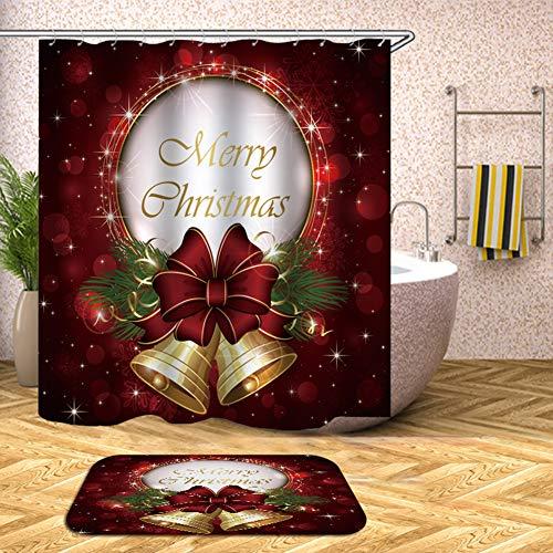 ruggito Christmas Shower Curtains Bathroom Waterproof...