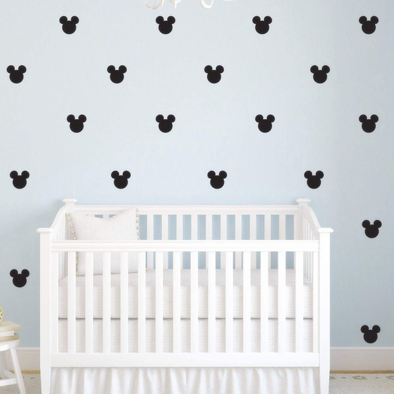 176pcs Cartoon Mickey Mouse Head Art Wall High quality new Charlotte Mall for Kids Room Decals B