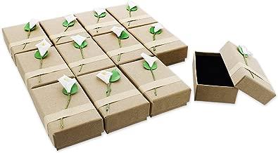 12-Piece Gift Box Set - Lily Jewelry Box for Anniversaries, Weddings, Birthdays - 3.5 x 1 x 2.2 Inches
