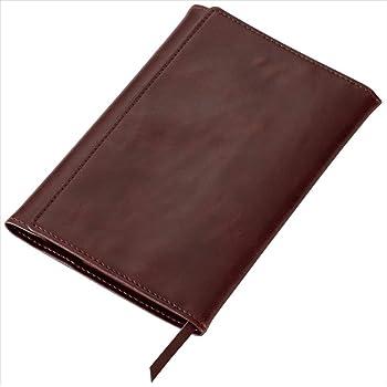 レイメイ藤井 ブックカバー グロワール 文庫サイズ ブラウン 合皮製 GLV1201C