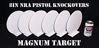 8in. Round Knock-Overs Rated for Pistol Shooting – 6 Piece Set