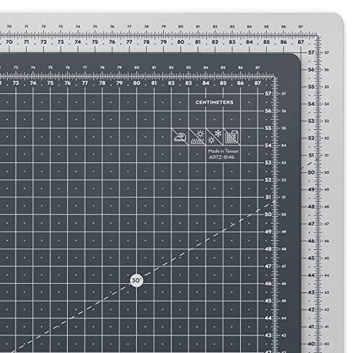 ARTEZA Base de Corte autorreparable para Cuchilla Circular | Alfombrilla de Doble Cara para Costura | Plancha de Corte para medir en centímetros | Tamaño A1 90 x 60 cm (3 mm de Grosor)