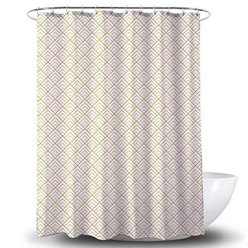 Amanda Duschvorhang Textil Badewannenvorhang 120/180 / 240 x 200 cm inkl Ringe (180x200cm, Amanda)