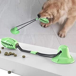 Dog Chew Suction Cup Tug of War Toy Multifunction Interactive Pet Aggressive Chewers Rope Puzzle Toothbrush Molar Bite Squ...