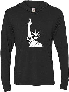 Adult Statue of Liberty Holding Gun 2nd Amendment Deluxe Triblend Hooded T-Shirt