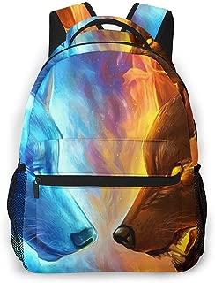 Gym Outdoor Hiking Bag Large Capacity Rucksack Bookbag College School Bookbag