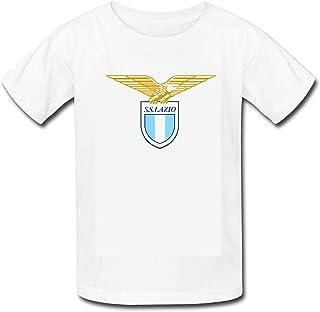 Foxgan Unisex Toddler Kids Boys/Girls SS Lazio Logo Soccer Football Futbol T-Shirt
