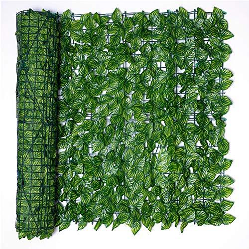 Künstlicher Efeu Sichtschutz Bildschirm, Balkon Windschutzscheibe, Wassermelonenblatt Atmungsaktiv Anti-UV Mit 100 Kabelbindern Garten, Terrasse, Wandschmuck Lsxiao (Color : Green, Size : 1.5x6m)