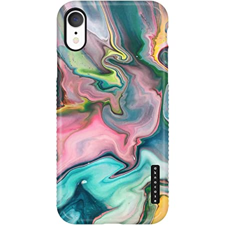 iPhone XR Case Watercolor with Screen Protector Akna Cat Series High Impact Silicon Cover for iPhone XR Design #102391-US
