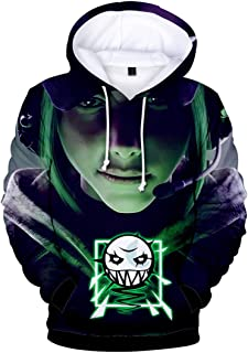 Silver Basic Boy's Rainbow Six Hoodies 3D Print Casual Sport Jacket Sweatshirt Mens Pullover Streetwear
