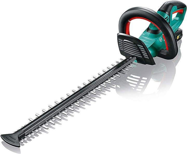 Tagliasiepi (1 batteria, sistema 18 volt, lunghezza di taglio 50 cm, distanza lama 20 mm, in scatola) bosch 0600849F00