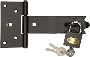 KOTARBAU® Veiligheidsovervallen 160 x 35 mm met hangslot overval overval scharnier deurvergrendeling klapgrendel kelderslu...