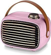 Estufa Electrica,PTC Elemento De Cerámica Calentador Rápido,Calefactor Energia Solar (Color : Pink)