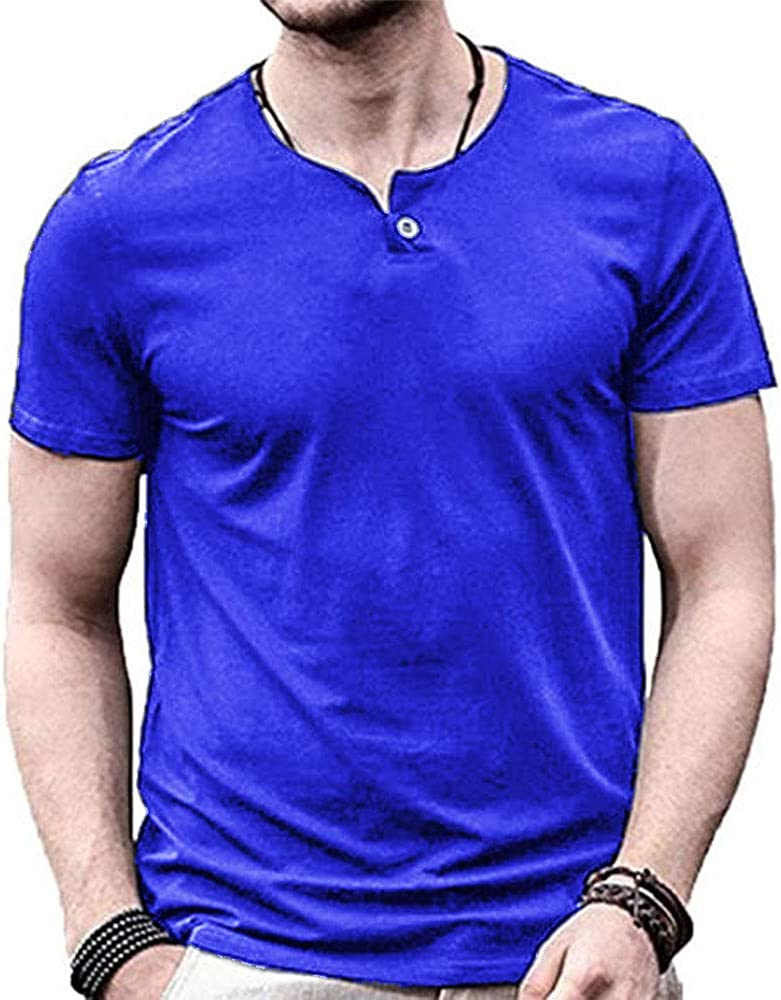 GYMAPE Men's Long Short Sleeve Free shipping Beefy Cot Long-awaited Slim Casual Fit T Shirt