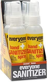 Sponsored Ad - Everyone Hand Sanitizer Spray: Coconut and Lemon, Travel Size, 2 Ounce, 6 Count