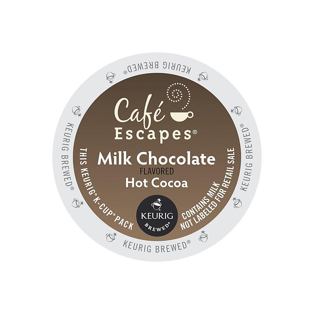 Café Escapes Milk Chocolate Kansas City Mall Financial sales sale Hot K-Cups Cocoa Box Of 16