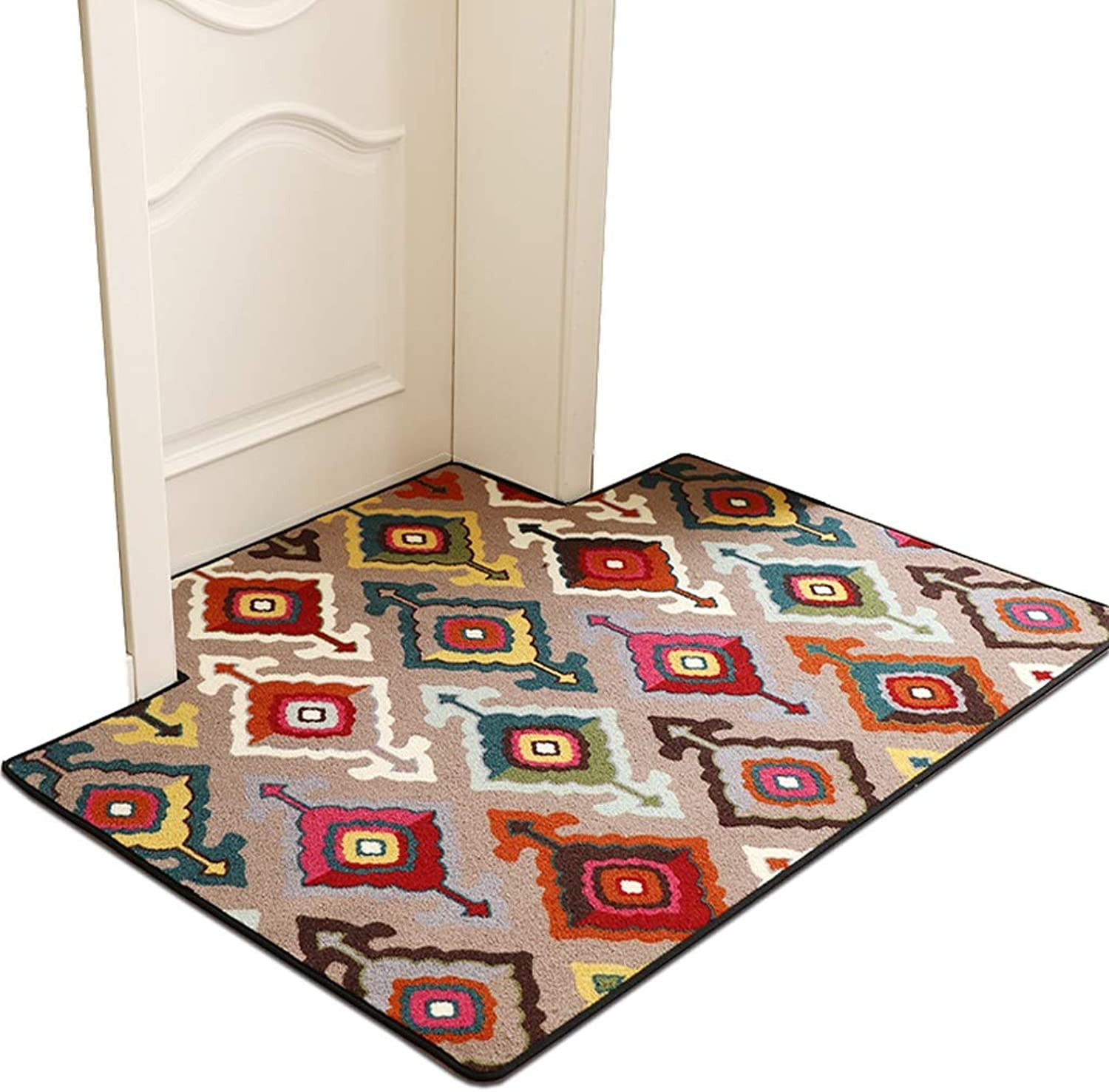 SHATONGCarpet Floor Mat Door Mat Door American Bedroom Living Room Mat Home Carpet Home Mat Door Entrance Door Mat (color   Multicolord, Size   50X80cm)