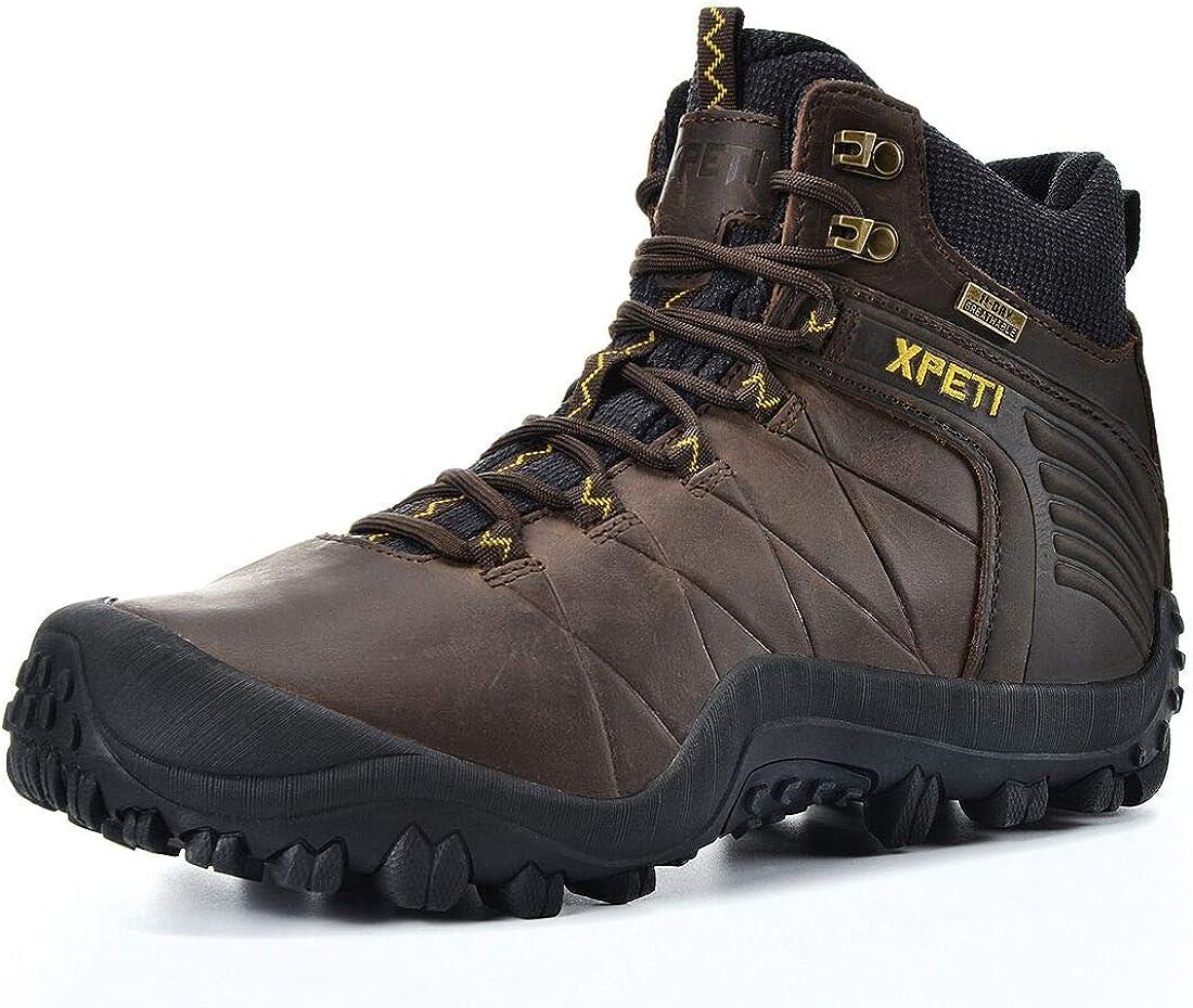 信託 XPETI Men's Quest Mid Leather Boot Hiking Waterproof 直営ストア