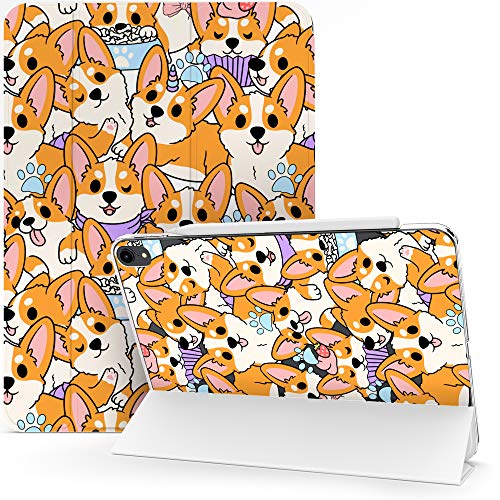Lex Altern Case Compatible with iPad Pro 12.9 2020 11 Air 3 2 10.8 8th Gen 2019 2018 10.5 inch Mini 5 4 9.7 Dogs Funny Magnetic Paws Puppies Protective Pet Kawaii Flip Clear Corgi Cute Cover mch052