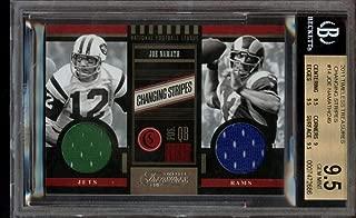 Joe Namath Dual Jersey /249 BGS 9.5 Timeless Treasures 2011 Jets Rams POP 1
