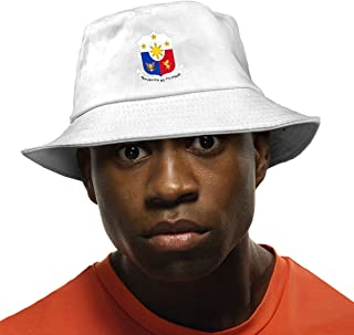 Coat of Arms of Philippines Unisex Fisherman Cap Fashion Funny Bucket Hat Black