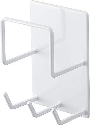 山崎実業(Yamazaki) マグネットバスルームクリーニングツールホルダー ホワイト 約W8XD6XH12cm タワー 浴室ラック お風呂掃除収納 4976