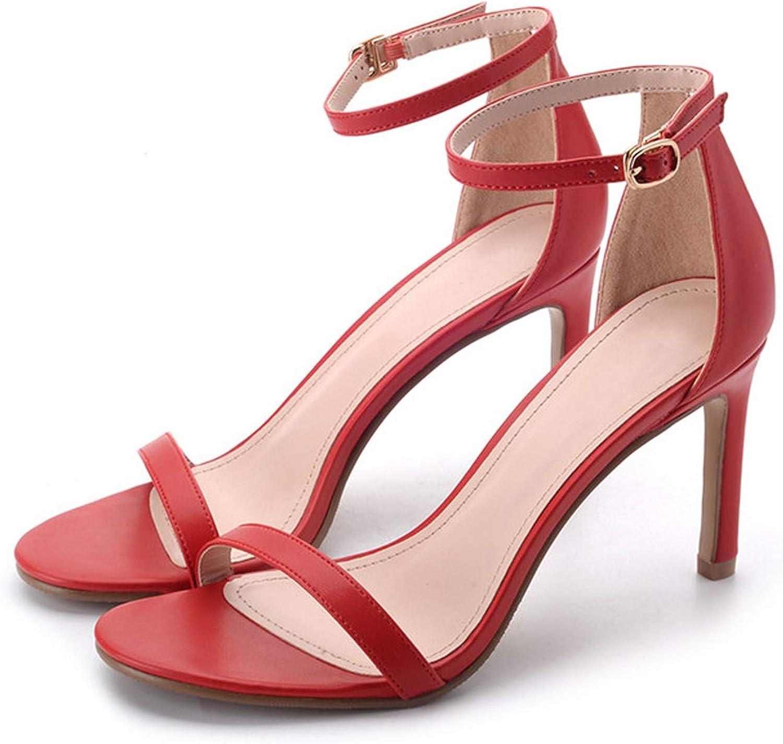 Summer Sandals for Women Sandal 10CM High Heel Leather Women's shoes