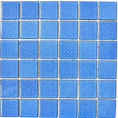 Mosaik Fliese Keramik blau Celadon Heritage Cobalt für WAND BAD WC DUSCHE KÜCHE FLIESENSPIEGEL THEKENVERKLEIDUNG BADEWANNENVERKLEIDUNG WB16-0404