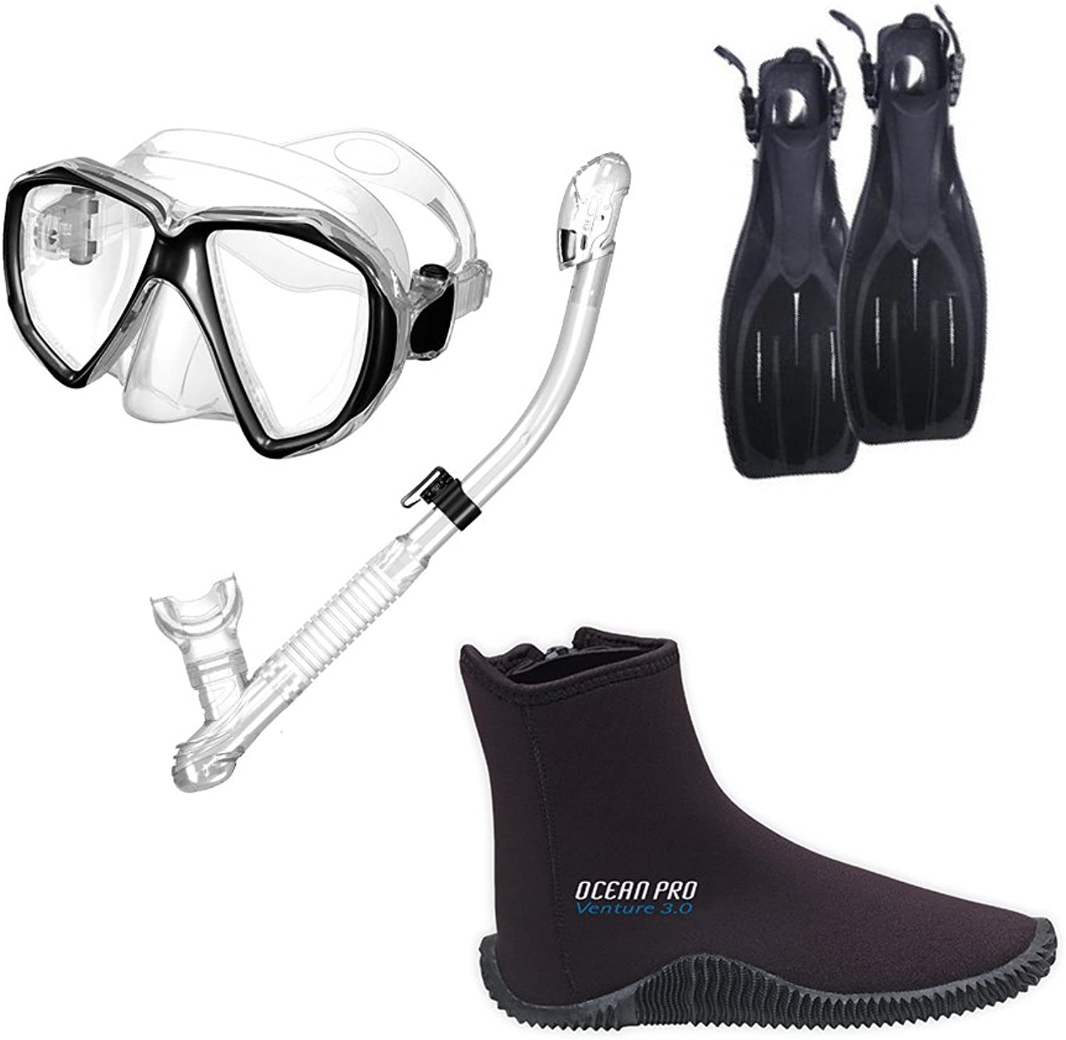 Typhoon Scuba Divers Package with Zippered Boot