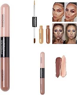 PHOERA Highlight,Contour, Highlighter & Bronzer,Fluid Eye Pen Stick Makeup Foundation Concealer By Lutos (Taupe/Lvory)