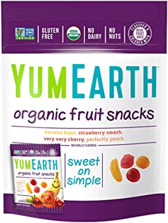 YumEarth Organic Fruit Snacks, 5 Count, net wt. 3.5oz ( Packaging May Vary )
