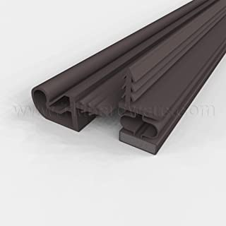 """TMH Magnetic Kerf Weather Stripping for Metal Doors - Full Set 36"""" x 84"""" [Black]"""
