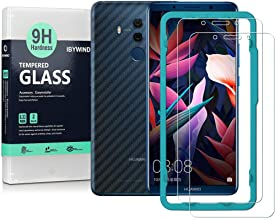 Ibywind Screen Protector for Huawei Mate 10 Pro [Pack of 2] 9H Tempered Glass Protector with Back Carbon Fiber Skin Protector,Including Easy Install Kit