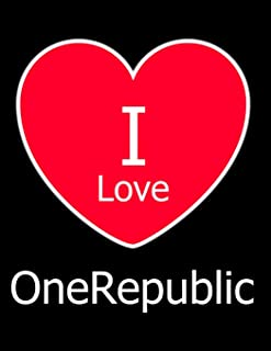 I Love OneRepublic: Large Black Notebook/Journal for Writing 100 Pages, OneRepublic Gift for Men, Women, Boys and Girls